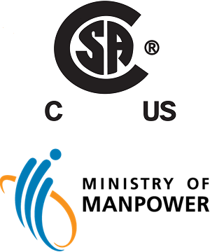 Ministry of Manpower and CSA cu logos