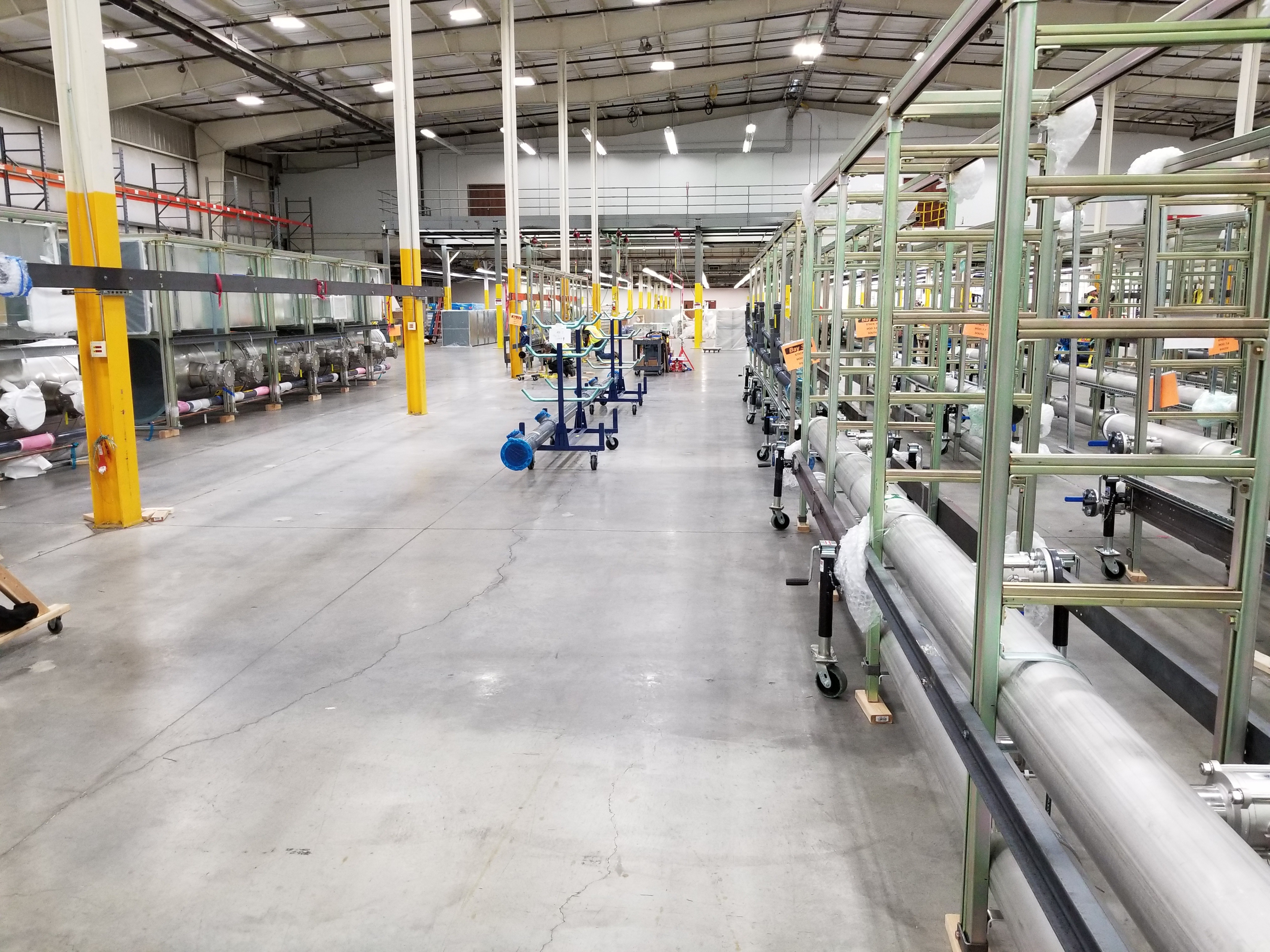 Utility modules assembled in central integration facility.
